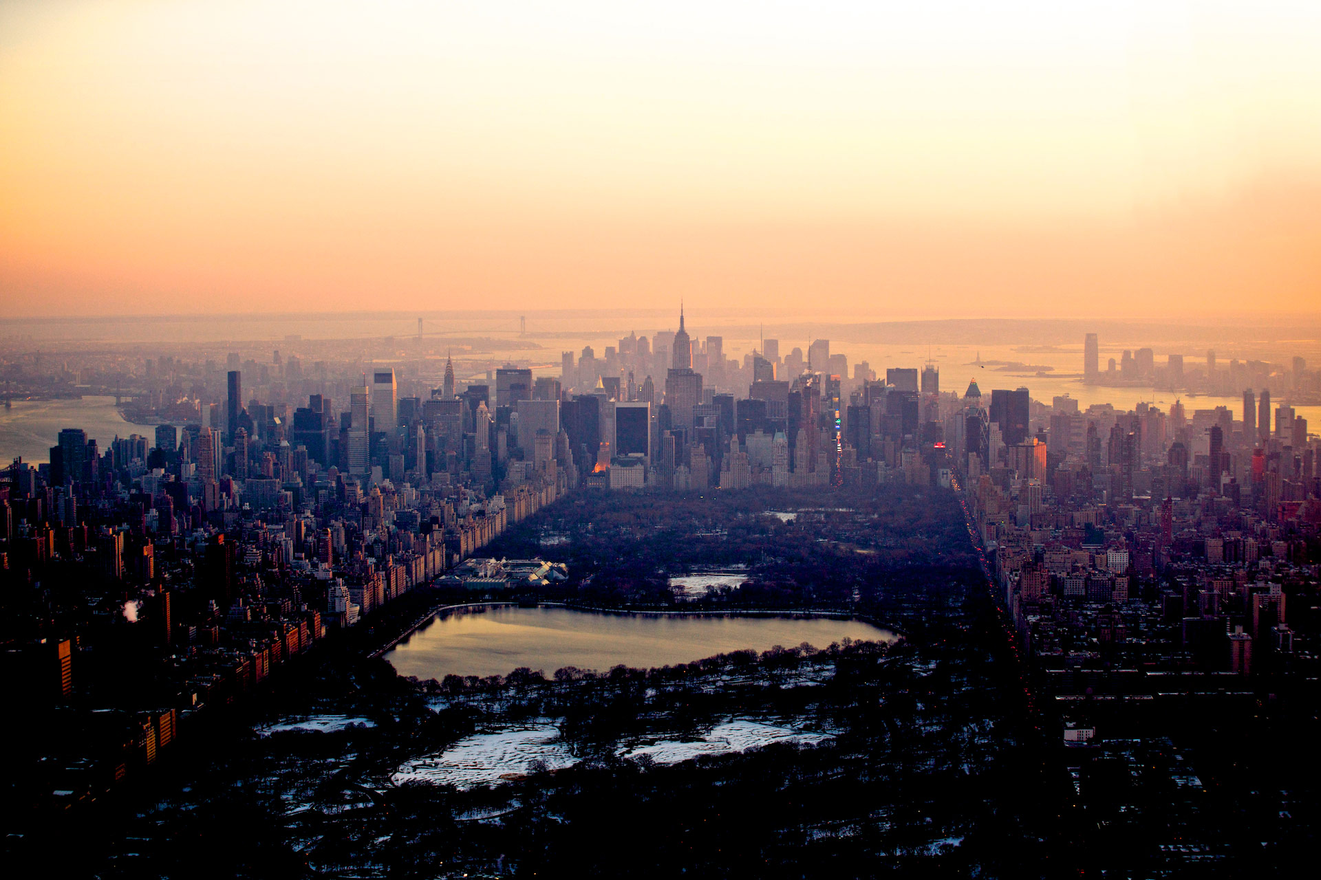 Helicopter Aerial photo of Manhattan and NYC