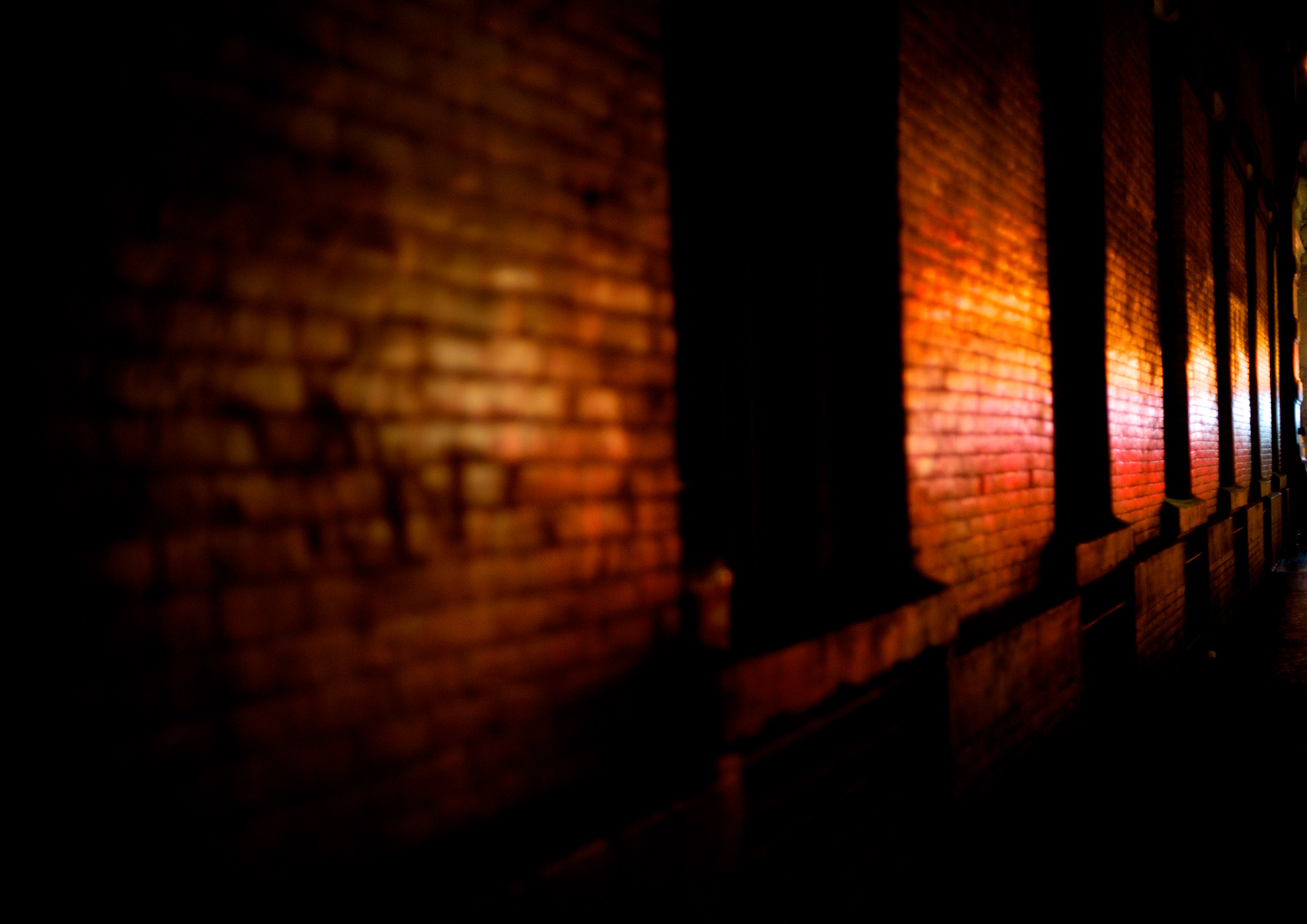 Soho-Brick-wall-at-Night