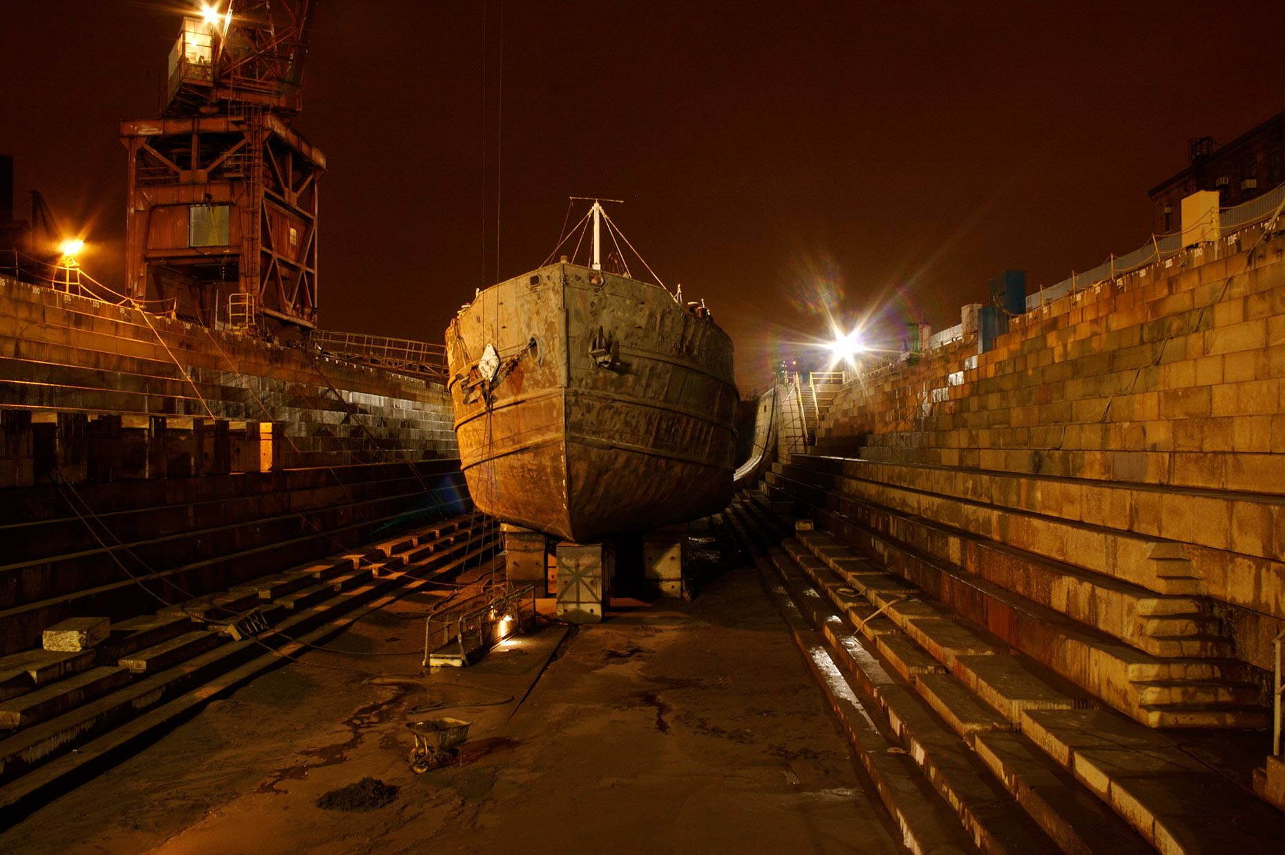 The Tanker Mary Whalen in Dry Dock.